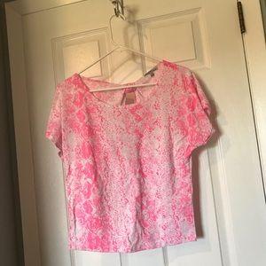 Charlotte Russe neon pink short sleeve t-shirt